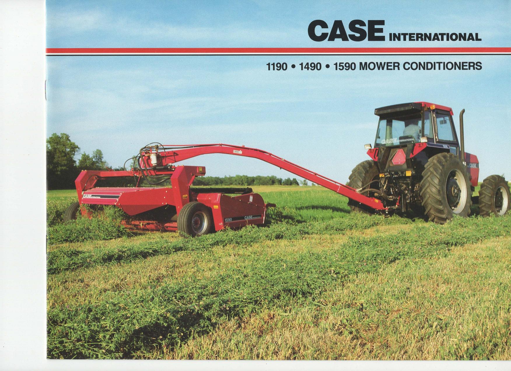 Case/IH 1190 1490 1590 Mower Conditioner Sales Brochure
