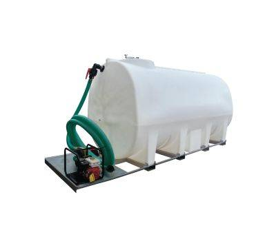 "6000 Litre Skid Mounted Bulk Water Transfer Bowser c/w 1"" Pump, image"
