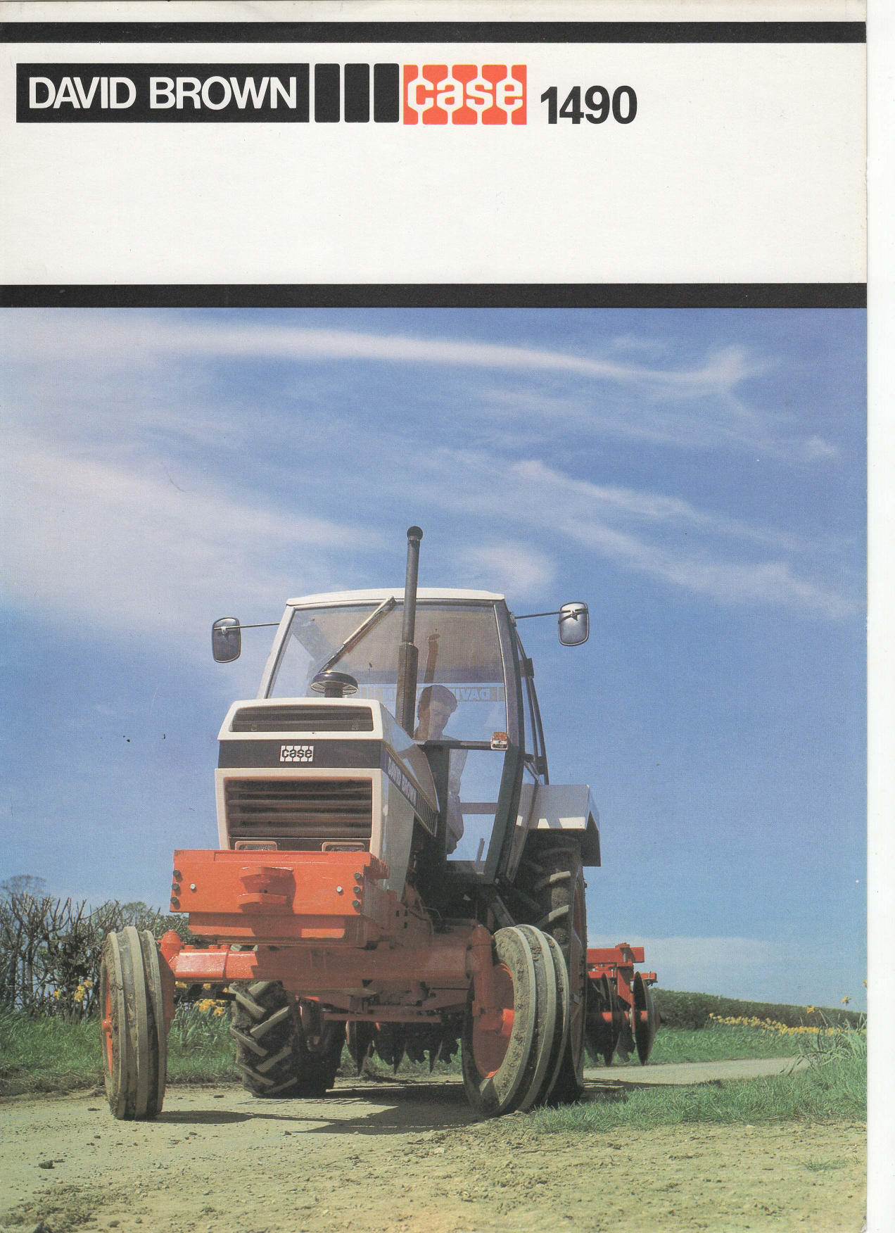 Case David Brown 1490 Tractor Sales Brochure