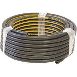 "8mm (5/16"") Air Line Hose - Black Rubber with Yellow Stripe, image"