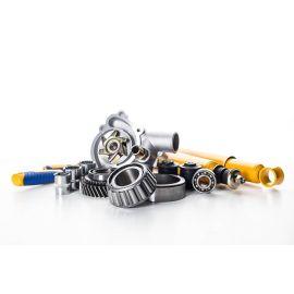 M10 x 35mm Set Screws Nylon Locking Nuts and Flat Washers   Essentials, image