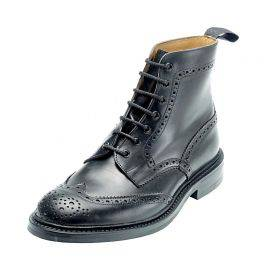 Trickers Stow 7 Eyelet Full Brogue Lace Boots (leather sole), image