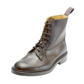 Trickers Burford 7 Eyelet Plain Lace Boots, image