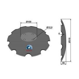 Niaux 200 Discs - 510mm x 4mm Pilot Hole Size - Flat, image