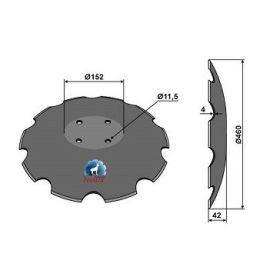 Niaux 200 Discs - 460mm x 4mm Pilot Hole Size - Flat, image