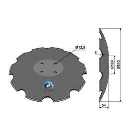 Niaux 200 Discs - 510mm x 5mm Pilot Hole Size - Flat, image