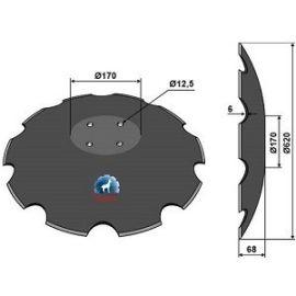 Niaux 200 Discs - 620mm x 6mm pilot Hole Size - Flat, image
