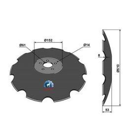 Niaux 200 Discs - 610mm x 8mm Pilot Hole Size - Flat, image