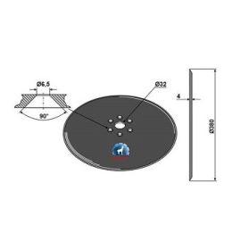 Niaux 200 Discs - 380mm x 4mm Pilot Hole Size - 32mm, image