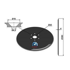 Niaux 200 Discs - 380mm x 4mm Pilot Hole Size 76mm, image