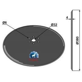 Niaux 200 Discs - 380mm x 4mm Pilot Hole Size 32mm, image