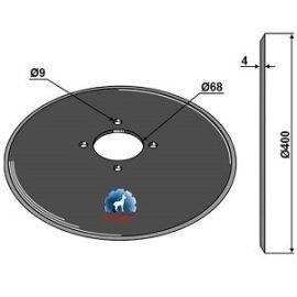 Niaux 200 Discs - 400mm x 4mm Pilot Hole Size 68mm, image