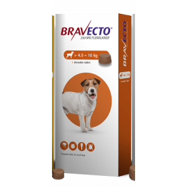 Bravecto Chewable Tablet Small Dog (4.5-10kg) 250mg, image