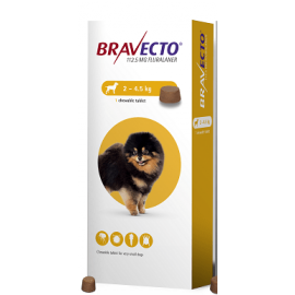 Bravecto Chewable Tablet Toy Dog (2-4.5kg) 112.5mg, image