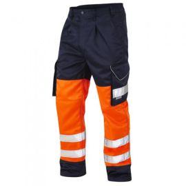 Bideford ISO 20471 Class 1 Hi Vis Cargo Trouser Two Tone Navy, image