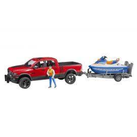 RAM 2500 Power wagon, trailer, jetski and driver 1:16, image