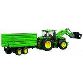 John Deere 7930 with frontloader and  tipping trailer, image
