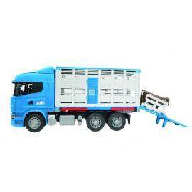 Scania R-Series cattle transportation truck + cow 1:16, image