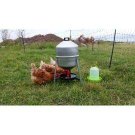 GALVANISED POULTRY TRAP DRINKER - 30 LITRES, image