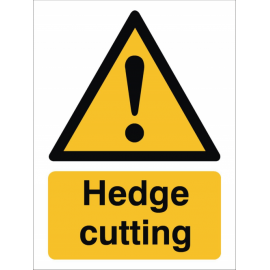 Hedge Cutting Sign, image