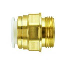 MALE COUPLER - BRASS SIZE (MM) 10 MALE THREAD 1/2 BSPP, image